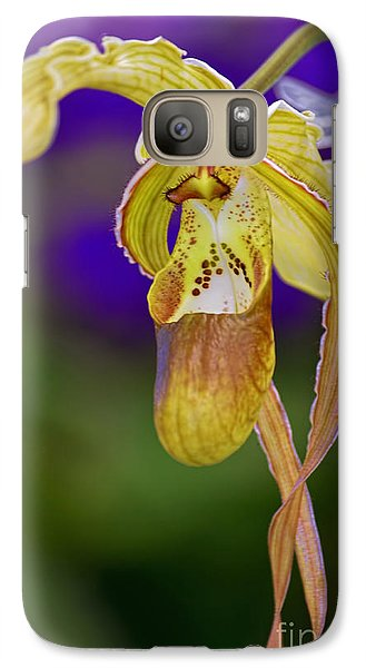 Galaxy Case featuring the photograph Lady Slipper Orchid by Aloha Art