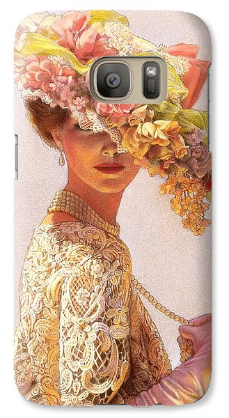 Flowers Galaxy S7 Case - Lady Victoria Victorian Elegance by Sue Halstenberg