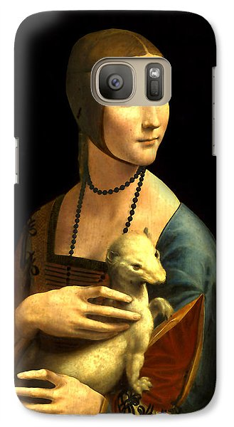 Galaxy Case featuring the digital art Lady With The Ermine Reproduction by Da Vinci