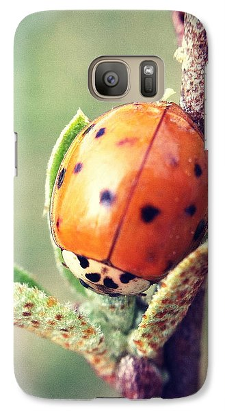 Galaxy Case featuring the photograph Ladybug  by Kerri Farley