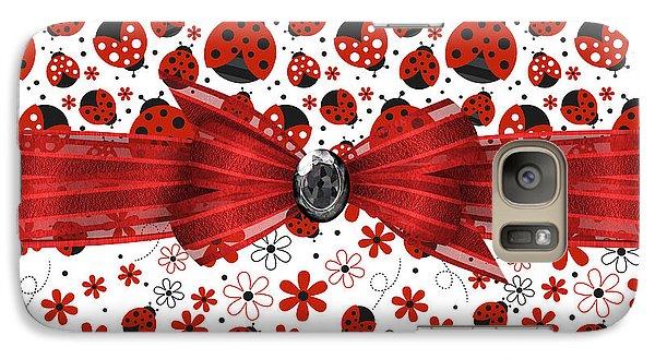 Ladybug Magic Galaxy S7 Case by Debra  Miller