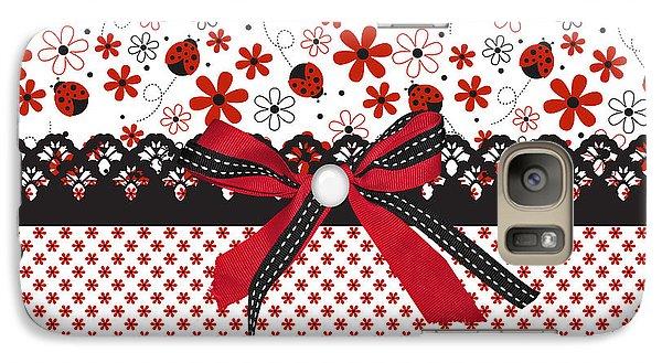 Ladybug Whisper  Galaxy Case by Debra  Miller