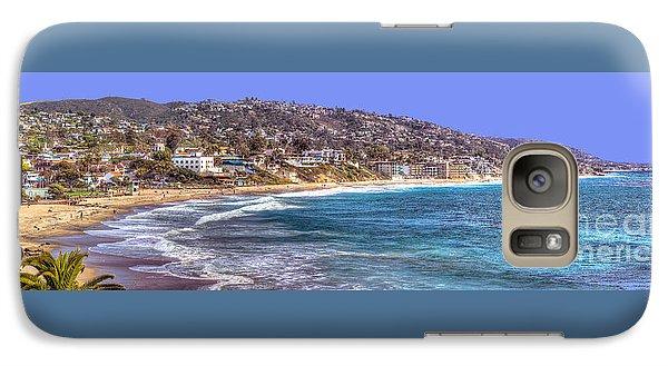 Galaxy Case featuring the photograph Laguna Beach Coast Panoramic by Jim Carrell
