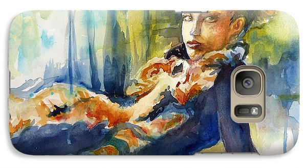 Galaxy Case featuring the painting Laidback by P Maure Bausch