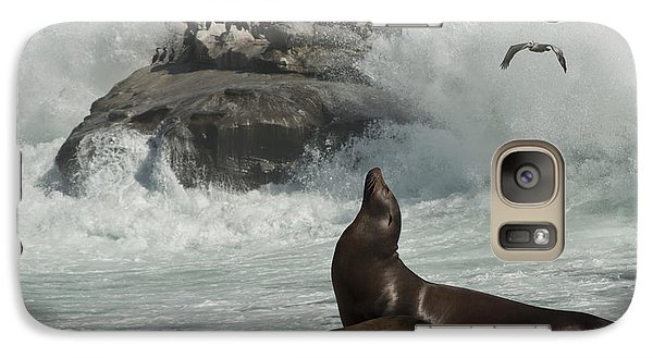 Galaxy Case featuring the photograph Lajolla Surf N Nature Preserve by Daniel Hebard