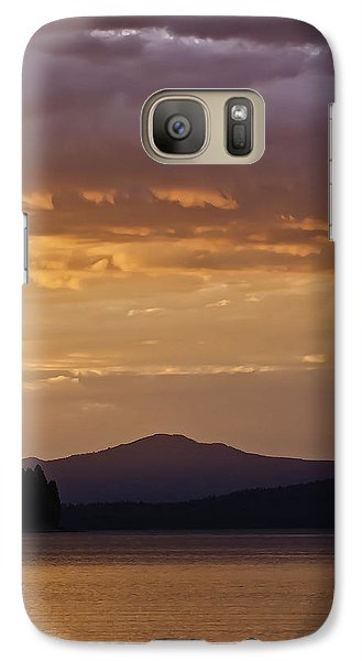 Galaxy Case featuring the photograph Lake Almanor Sunset by Sherri Meyer