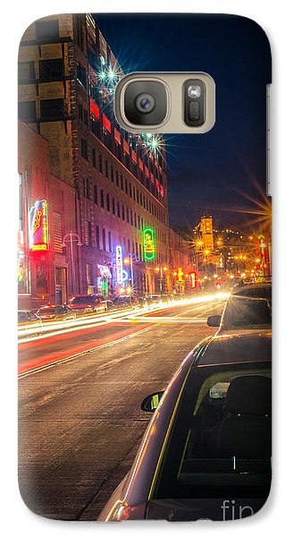 Galaxy Case featuring the photograph Lake Avenue Saturday Night by Mark David Zahn