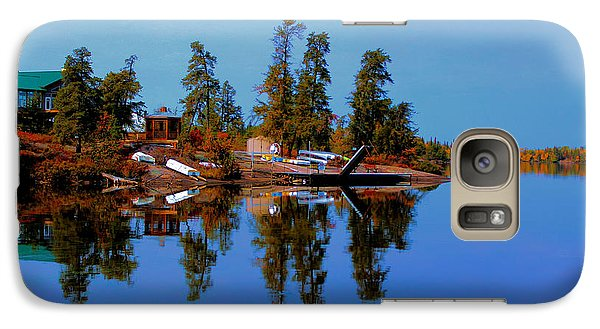 Galaxy Case featuring the photograph Lake Brereton by Larry Trupp
