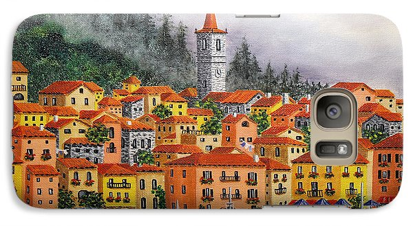 Galaxy Case featuring the painting Lake Como Italy by Val Miller