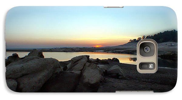 Galaxy Case featuring the photograph Lake Folsom California Rocky Sunset by Polly Peacock