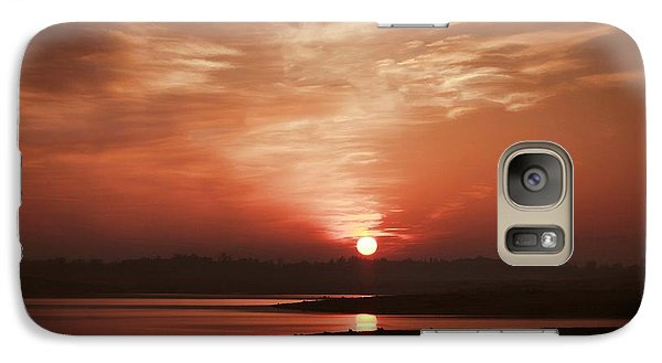Galaxy Case featuring the photograph Lake Folsom California Sunset by Polly Peacock