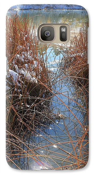 Galaxy Case featuring the photograph Lake Glitter by Diane Alexander
