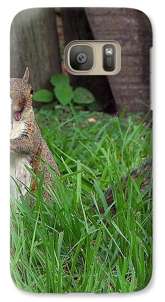 Galaxy Case featuring the photograph Lake Howard Squirrel 000 by Chris Mercer