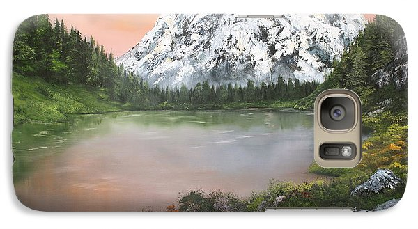 Galaxy Case featuring the painting Lake In Austria by Jean Walker