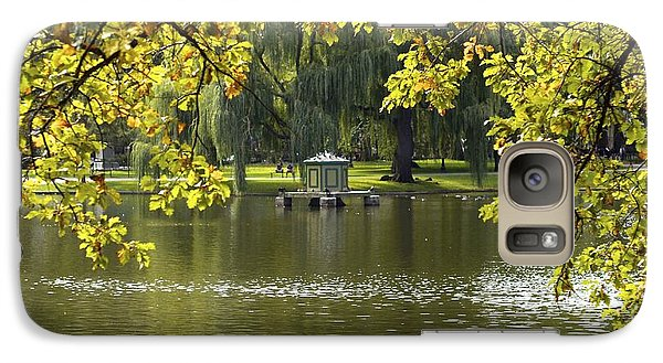Galaxy Case featuring the photograph Lake In Boston Park by Alex King