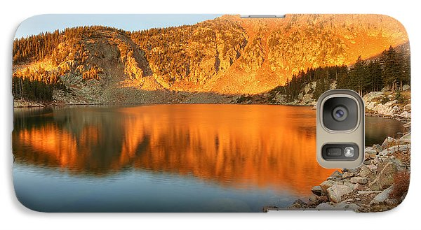 Galaxy Case featuring the photograph Lake Katherine Sunrise by Alan Ley