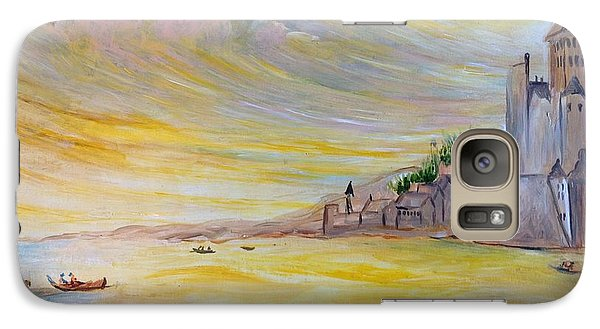 Galaxy Case featuring the painting Lake Landscape by Egidio Graziani