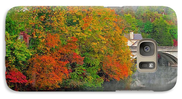 Galaxy Case featuring the photograph Lake Lure Autumn by Marion Johnson