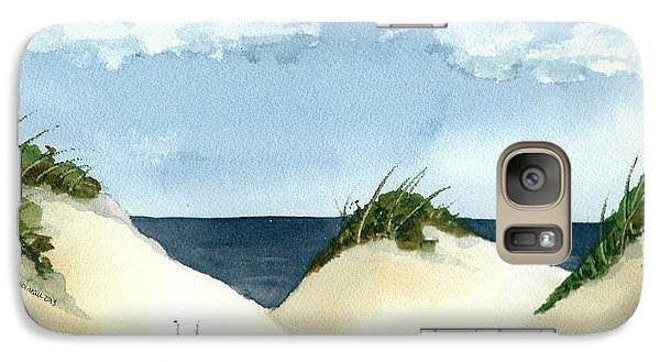 Galaxy Case featuring the painting Lake Michigan Dunes by Lynn Babineau