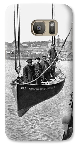 Marquette Galaxy S7 Case - Lake Michigan Ferry Lifeboat by Underwood Archives
