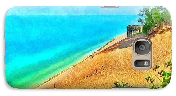 Lake Michigan Overlook On The Pierce Stocking Scenic Drive Galaxy S7 Case