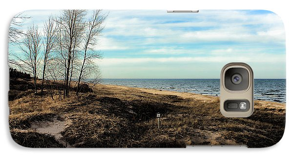 Galaxy Case featuring the photograph Lake Michigan Shoreline by Lauren Radke