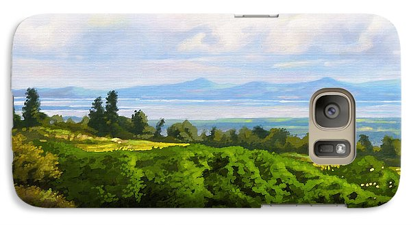 Galaxy Case featuring the painting Lake Naivasha From Home by Anthony Mwangi