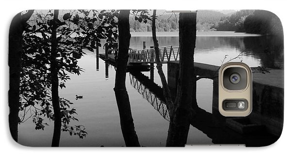 Galaxy Case featuring the photograph Lake Padden Reflection In Black And White by Karen Molenaar Terrell