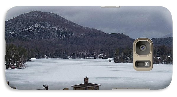 Galaxy Case featuring the photograph Lake Placid Snow Storm by John Telfer