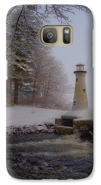 Galaxy Case featuring the photograph Lake Potanipo Lighthouse by Brenda Jacobs