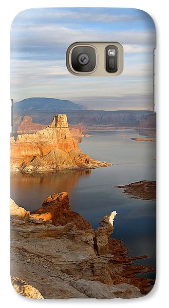Galaxy Case featuring the photograph Lake Powell From Alstrum Pt 12 by Jeff Brunton