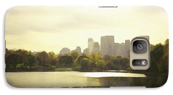 Galaxy Case featuring the digital art Lake Reflection Skyline 3 by David Klaboe