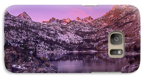 Galaxy Case featuring the photograph Lake Sabrina Sunrise Eastern Sierras California by Dave Welling