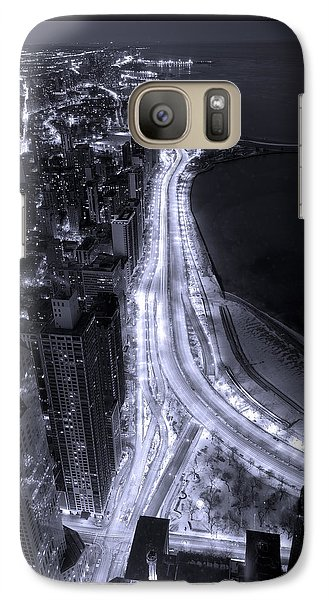 Lake Shore Drive Aerial  B And  W Galaxy S7 Case