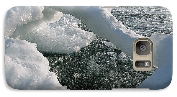 Galaxy Case featuring the photograph Lake Superior Ice Arch by Sandra Updyke
