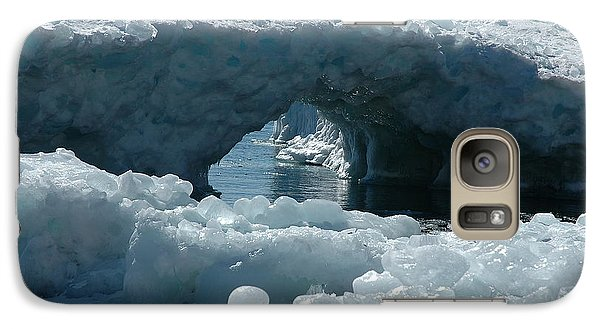 Galaxy Case featuring the photograph Lake Superior Ice Bridge by Sandra Updyke