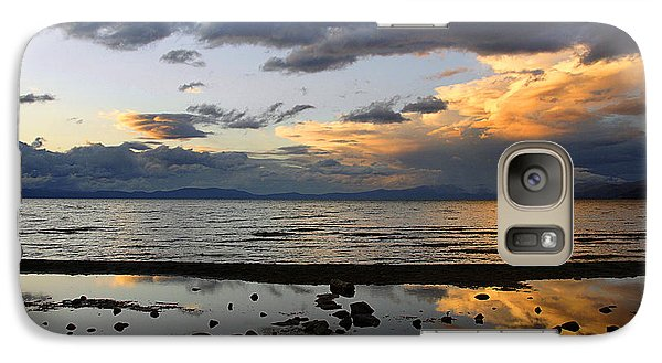 Galaxy Case featuring the photograph Lake Tahoe In May by Thomas Bomstad