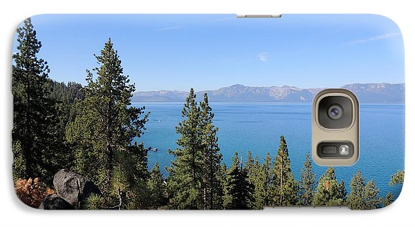 Galaxy Case featuring the photograph Lake Tahoe Through The Trees by Jayne Wilson