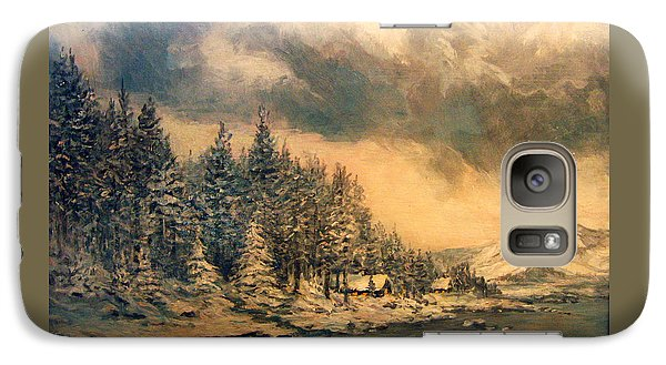 Galaxy Case featuring the painting Lake Tahoe Winter Colors 2 by Donna Tucker