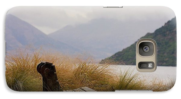Galaxy Case featuring the photograph Lake Wakatipu Bench by Stuart Litoff