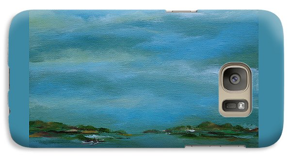 Galaxy Case featuring the painting Lake Wallenpaupack Early Morning by Judith Rhue