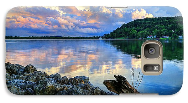 Galaxy Case featuring the photograph Lake White Sundown by Jaki Miller