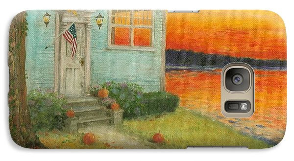 Galaxy Case featuring the painting Lakehouse Fall Nocturne by Judith Cheng