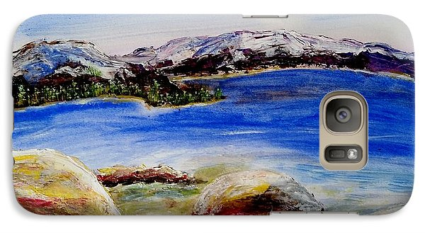 Galaxy Case featuring the painting Lakeshore Boulders by Carol Duarte