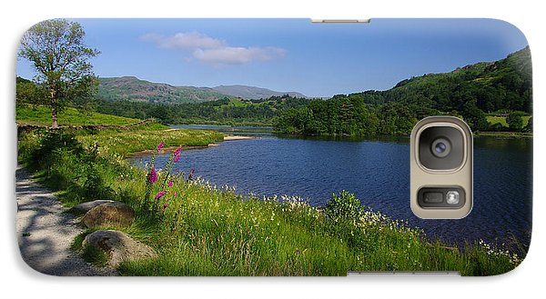Galaxy Case featuring the photograph Lakeside Path To Grasmere by Graham Hawcroft pixsellpix