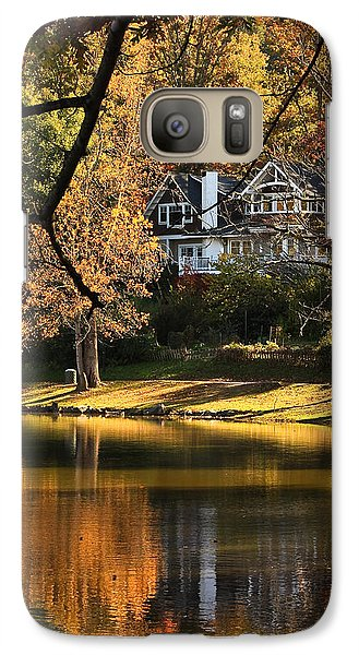Galaxy Case featuring the photograph Lakeside Reflects... by Tammy Schneider