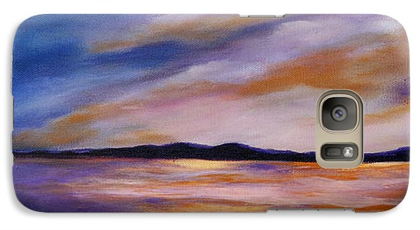 Galaxy Case featuring the painting Lakeside Sunset by Michelle Joseph-Long