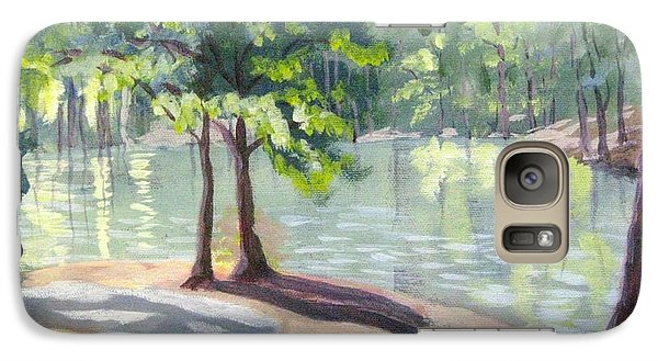 Galaxy Case featuring the painting Lakeside Trail by Gretchen Allen