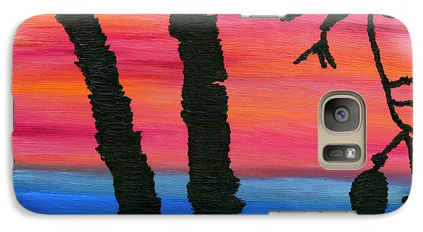 Galaxy Case featuring the painting Lakeview Sunset by Vadim Levin