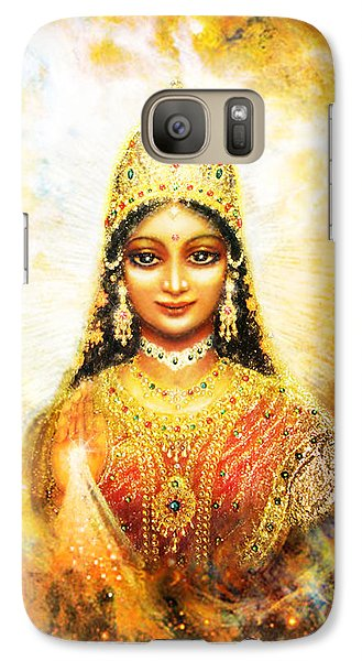 Galaxy Case featuring the mixed media Lakshmi Goddess Of Abundance In A Galaxy by Ananda Vdovic